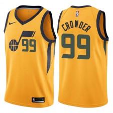 Maillot pour hommes Swingman Utah Jazz ^ Jae Crowder Statement Gold 99