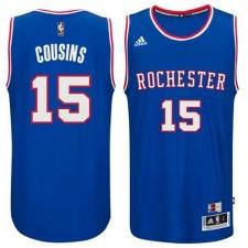 NBA DeMarcus Cousins Authentic Men's Light Blue Jersey - Adidas Sacramento Kings &15 2014-15 Hardwood Classics