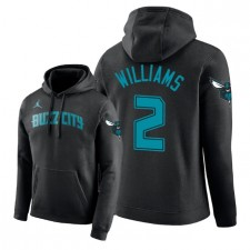 NBA Men Charlotte Hornets ^ 2 Sweat à Capuche Pull Marvin Williams Edition - Noir