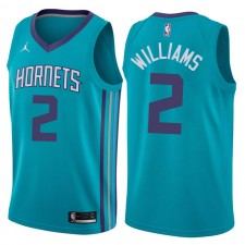 NBA Charlotte Hornets ^ 2 Maillot Marvin Williams Icon Teal Swingman