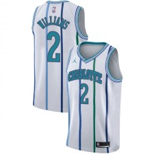 Charlotte Hornets Marvin Williams ^ 2 Maillot Blanc Classique