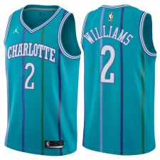 Maillot Charlotte Hornets ^ 2 pour homme Marvin Williams Classic Edition Teal Swingman