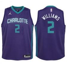 Charlotte Hornets pour jeunes ^ 2 Maillot violet Swingman Marvin Williams - Édition Statement