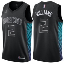 Charlotte Hornets ^ 2 Maillot Swingman Noir Marvin Williams Edition City Edition