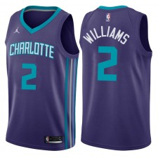 Charlotte Hornets ^ 2 Maillot Marvin Williams Statement Pourpre Swingman