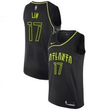 Atlanta Hawks Jeremy Lin ^ 17 City Jersey Noir