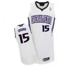 NBA DeMarcus Cousins Authentic Men's White Jersey - Adidas Sacramento Kings &15 Home