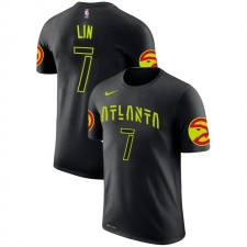 Atlanta Hawks Jeremy Lin ^ 7 City Edition Noir T-shirt