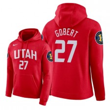 NBA Men Utah Jazz ^ 27 Pull à capuche Rudy Gobert City Edition - Rouge