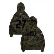 Utah Jazz Rudy Gobert ^ 27 Sweat à capuche Camo Salut to Service