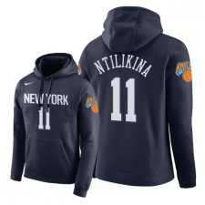 NBA Men New York Knicks ^ 11 Pull à capuche Frank Ntilikina City Edition - Bleu marine