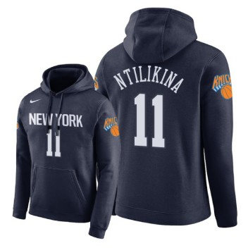 NBA Hommes New York Knicks # 11 Pull à capuche Frank Ntilikina City Edition - Bleu marine