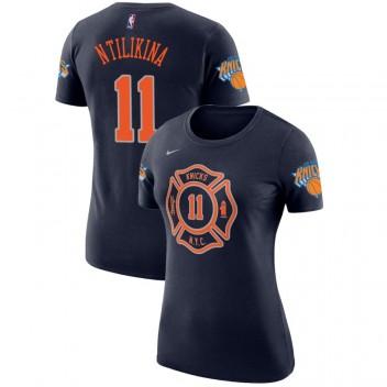 Knicks de New York, femmes Frank Ntilikina # T-chemise bleu marine City Performance