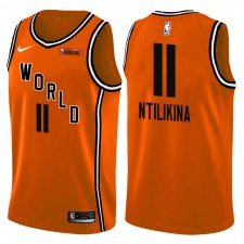 NBA All-Star Rising Stars Jeu Défi Team World ^ 11 Maillot Frank Ntilikina Orange Swingman