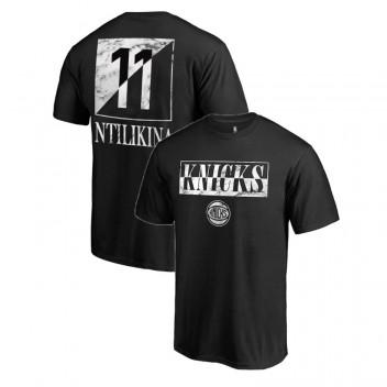 Knicks de New York, Frank Ntilikina # T-chemise en marbre noir 11 Yin Yang