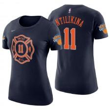 T-shirt à manches courtes Homme Navy de Frank Ntilikina City Edition New York Knicks pour femmes ^ 11