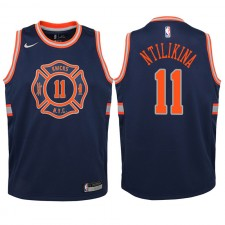 New York Knicks ^ 11 Frank Ntilikina Swingman de la marine, édition Jersey