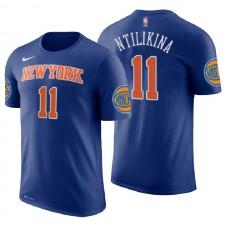 T-shirt à manches courtes pour hommes des New York Knicks ^ 11 Frank Ntilikina Icon Edition Royal