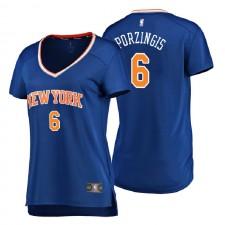 New York Knicks Fanatics pour femmes ^ 6 Kristaps Porzingis Icon Edition Réplique Jersey