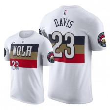 Pélicans de la Nouvelle-Orléans pour hommes ^ 23 Anthony Davis T-shirt Édition gagnée - Blanc