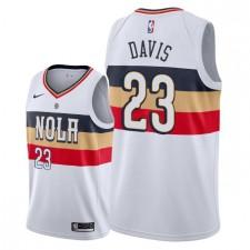 Pélicans de la Nouvelle-Orléans pour hommes ^ 23 Anthony Davis a remporté le maillot Swingman - Blanc