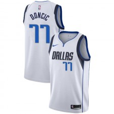 Dallas Mavericks Luka Doncic ^ 77 Association Maillot Blanc