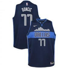 Dallas Mavericks Youth Luka Doncic ^ 77 Maillot Navy Statement