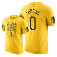 T-shirt pour homme Cousins ​​DeMarcus de Golden State Warriors ^ 0 - Jaune
