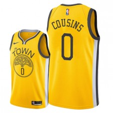 Golden State Warriors pour hommes ^ 0 Maillot Swingman - Cousins DeMarcus - Jaune