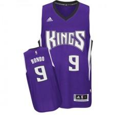NBA Rajon Rondo Authentic Men's Purple Jersey - Adidas Sacramento Kings &9 Road