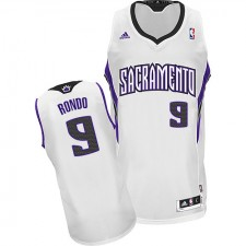 NBA Rajon Rondo Swingman Men's White Jersey - Adidas Sacramento Kings &9 Home