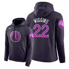 NBA Men Timberwolves du Minnesota ^ 22 Pullover à capuche Andrew Wiggins City Edition - Pourpre