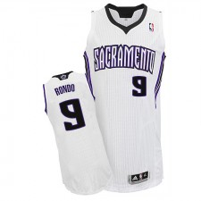 NBA Rajon Rondo Authentic Men's White Jersey - Adidas Sacramento Kings &9 Home