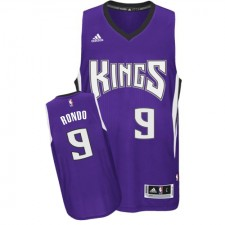 NBA Rajon Rondo Authentic Youth Purple Jersey - Adidas Sacramento Kings &9 Road