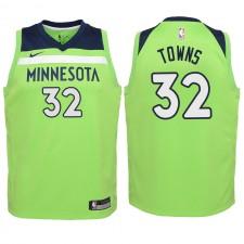 Timberwolves des Minnesota pour la jeunesse ^ Jersey Karl-Anthony Towns Green Swingman de 32 ans - Statement Edition