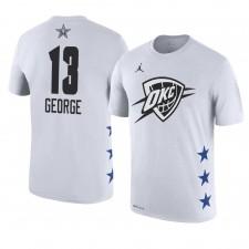 Oklahoma City Thunder ^ 13 Paul George Nom et numéro du match des étoiles 2019 T-shirt blanc