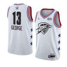 Oklahoma City Thunder ^ 13 Blanc Paul George All-Star Game Swingman terminé Jersey Hommes