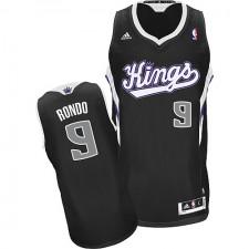 NBA Rajon Rondo Swingman Men's Black Jersey - Adidas Sacramento Kings &9 Alternate