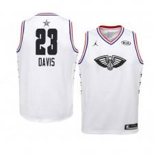 Pélicans de la Nouvelle-Orléans ^ 23 Blanc Anthony Davis Maillot All-Star 2019 Swingman Jersey - Jeune