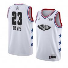 Pélicans de la Nouvelle-Orléans ^ 23 Blanc Anthony Davis 2019 All-Star Game Swingman terminé Jersey Hommes