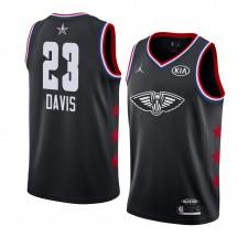 Pelicans de la Nouvelle-Orléans ^ 23 Black Anthony Davis 2019 All-Star Game Swingman terminé Jersey Hommes