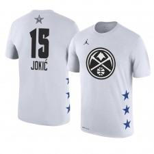 Nuggets de Denver ^ 15 T-shirt blanc avec nom et numéro de joueur 2019 Nikola Jokic 2019
