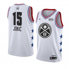 Nuggets de Denver ^ 15 Blanc Nikola Jokic 2019 All-Star Game Swingman Terminé Jersey Hommes