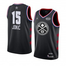 Denver Nuggets ^ 15 Black Nikola Jokic 2019 All-Star Game Swingman fini Jersey Hommes