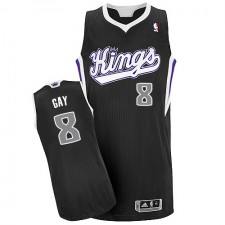 NBA Rudy Gay Authentic Men's Black Jersey - Adidas Sacramento Kings &8 Alternate