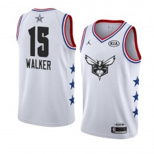 Charlotte Hornets ^ 15 Blanc Kemba Walker 2019 All-Star Game Swingman terminé Jersey Hommes