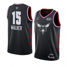Charlotte Hornets ^ 15 Black Kemba Walker 2019 All-Star Game Swingman fini Jersey Hommes