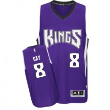 NBA Rudy Gay Authentic Men's Purple Jersey - Adidas Sacramento Kings &8 Road