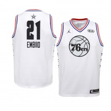 Philadelphia 76ers ^ 21 White Joel Embiid All-Star Game Swingman Jersey 2019 Jeunes