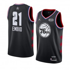 Philadelphia 76ers ^ 21 Black Joel Embiid All-Star Game 2019 fini Swingman Jersey Hommes